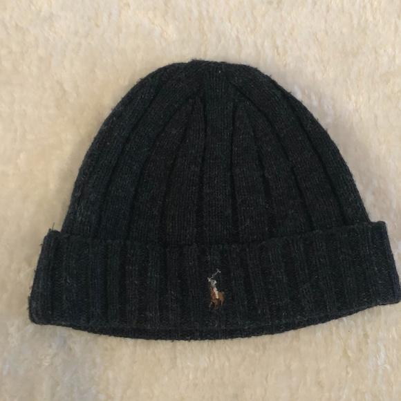 Mens Polo Ralph Lauren Lambs Wool Touque / Hat